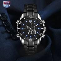 1686.05 руб. 38% СКИДКА|ТВГ 2019 Высокое качество новый роскошный Нержавеющаясталь Секундомер спортивные часы Для мужчин светодиодный 100FT Водонепроницаемый наручные часы синий купить на AliExpress