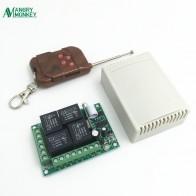 433 МГц Универсальный беспроводной пульт дистанционного управления Переключатель DC12V 4CH релейный модуль приемника с 4-канальным радиочастотным пультом дистанционного управления 433 МГц передатчик