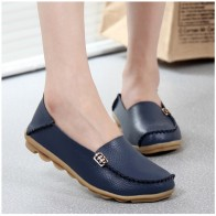 US $11.22 32% OFF|KUIDFAR 2018 Fashion Genuine Leather Women Flats Shoes Female Casual Flat Women Loafers 16 color Moccasin Women