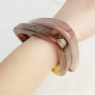 Europe and America 2019 Fashion Resin Creative Geometric Triangle Bracelets Simple Hyperbole Acrylic Ladies Bracelets Jewelry