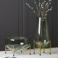 Роскошная стеклянная ваза, дизайнерская Фруктовая тарелка, Современная Минималистичная прозрачная ваза, домашнее украшение, креативное ук... - Ваш красивый дом