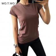 502.94 руб. 49% СКИДКА|Высокое качество, 18 цветов, простая футболка, женские хлопковые эластичные Базовые Футболки женские повседневные топы, футболка с коротким рукавом, женские 002-in Футболки from Женская одежда on Aliexpress.com | Alibaba Group