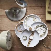 Новый ящик для хранения ювелирных изделий с вращением на 360 градусов, 4-слойная шкатулка для украшений, колье, кольцо, серьги, коллекция украш... - Хранение украшений