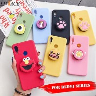 US $2.33 |3D silicone cartoon phone holder case for xiaomi redmi note 7 5 6 pro k20 7a 4a 4x 5a prime 6a 5 plus go cute stand cover on AliExpress - 11.11_Double 11_Singles