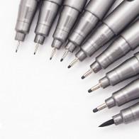 51.12 руб. 36% СКИДКА|1 часть пигмента лайнер Pigma Микрон чернила маркером 0,05 0,1 0,2 0,3 0,4 0,5 0,6 0,8 различных отзыв черный Fineliner рисования ручки купить на AliExpress