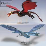 Mailackers динозавр Юрского периода мир кино ТВ престолов мощная игра Дракон Ночной король фигурки Viserion строительные блоки игрушки