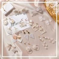US $1.13 13% OFF|Simple Korean Girl Cute Earrings Geometry Circular Triangle Asymmetric Long Tassel Drop Earrings Women Fashion Accessories-in Drop Earrings from Jewelry & Accessories on Aliexpress.com | Alibaba Group
