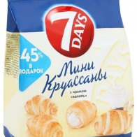 Купить 7DAYS Мини круассаны с кремом ваниль, 105 г по низкой цене с доставкой из маркетплейса Беру