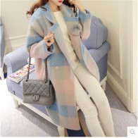 3869.81 руб. 48% СКИДКА|Модное кашемировое пальто женское зимнее пальто Mew стиль свободный принт сетка шерстяное пальто темперамент высокое качество ткани BN1032-in Шерсть и сочетания from Женская одежда on Aliexpress.com | Alibaba Group