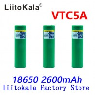 215.14 руб. 40% СКИДКА|Liitokala Max 40A Pulse 60A Оригинальная батарея 3,6 В 18650 аккумуляторная батарея VTC5A 2600 мАч с высоким потоком энергии 40A батарея для электронной сигареты-in Подзаряжаемые батареи from Бытовая электроника on Aliexpress.com | Alibaba Group