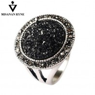 MISANANRYNE Hot Fashion Black Broken Stone Accessories Rings For Women Bohemia Style Engagement Ring-in Rings from Jewelry & Accessories on AliExpress - Anillo, anillo, anillo