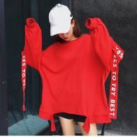 1116.98 руб. |Для женщин Harajuku свободная футболка с длинным рукавом в полоску с буквенным принтом футболка свитер и пуловер БЦ одежда плюс Размеры Топ-in Футболки from Женская одежда on Aliexpress.com | Alibaba Group