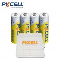 569.56 руб. 20% СКИДКА|4 x PKCELL AA батареи Ni MH 2600 Mah 1,2 V AA аккумуляторные батареи 2A Bateria Baterias с 1 батарейным отсеком-in Подзаряжаемые батареи from Бытовая электроника on Aliexpress.com | Alibaba Group