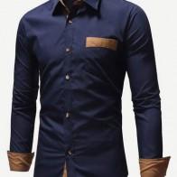 Мужская контрастна футболка с карманом