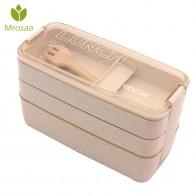 403.38 руб. 5% СКИДКА|3 Слои пшеничной соломы коробки для обедов бенто 900 мл материал не вредит здоровью коробка для завтрака пригодная для использования в микроволновке посуда Еда контейнер для хранения Ланч бокс купить на AliExpress