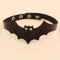 Halloween Bat Decor PU Choker