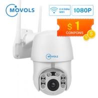 Movols 1080P PTZ Автоматическая ip-камера слежения Wifi 4X цифровой зум Камера Безопасности s IR Водонепроницаемая скоростная купольная 2-мегапиксельна...