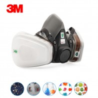 3M Mask 6200 7 In 1 PM2.5 Industrial Gas Mask Half Face Painting Spraying Respirator Safety Work Filter Dust Mask Dust Proof