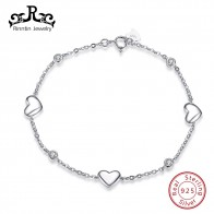 US $8.5 40% OFF|Rinntin Solid S925 Sterling Silver Chain Bracelet Sweet Heart Design AAA Zircon Women Bracelets Party Jewelry Dating Gift TSB02-in Bracelets & Bangles from Jewelry & Accessories on Aliexpress.com | Alibaba Group