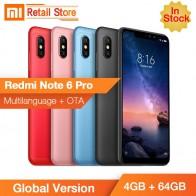 """Глобальная версия Xiaomi Redmi Note 6 Pro 4 ГБ 64 ГБ Snapdragon636 Octa Core 6,26 """"полный Экран телефона двойной AI Камера металлический корпус CE купить на AliExpress"""