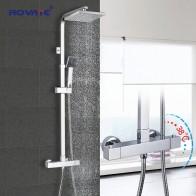 6622.75 руб. 38% СКИДКА|ROVATE Ванная комната термостатический душ, постоянный контроль температуры смеситель для душа системы, латунь хром-in Душевые системы from Товары для дома on Aliexpress.com | Alibaba Group
