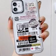 Funda de móvil con patrón de etiqueta