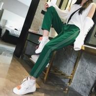 863.81 руб. 38% СКИДКА|Mooirue уличная Высокая талия брюки женские модные полосатые эластичные зеленые красные синие Черные Прямые длинные брюки больших размеров-in Штаны и капри from Женская одежда on Aliexpress.com | Alibaba Group