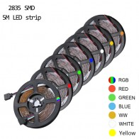 SMD 2835 DC12V RGB LED Strip Light 1M 2M 3M 4M 5M NO Waterproof LED Light RGB Leds tape Flexible  diode ribbon
