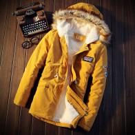 S 5XL мужские утепленные Военная Униформа с капюшоном теплые пальто Peacoats Верхняя одежда длинный тренд парка плюс размеры 4 цвета купить на AliExpress