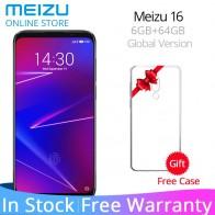 16307.56 руб. 19% СКИДКА|Meizu 16 6 ГБ ОЗУ 64 Гб ПЗУ глобальная версия телефон Snapdragon 710 Восьмиядерный 6,0