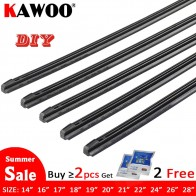 US $1.57 31% OFF|KAWOO Car Vehicle Insert Rubber strip Wiper Blade (Refill) 8mm Soft 14