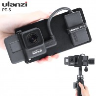 ULANZI PT-6 Action Camera Adapter Storage Microphone Cable Mount Plate Handheld Gimbal Accessory Mount for GoPro Hero 7/6/5