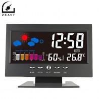 656.78 руб. 50% СКИДКА|Голосовое управление цифровой беспроводной красочный экран USB подсветкой термометр метеостанции гигрометр часы температура календарь-in Приборы для измерения температуры from Орудия on Aliexpress.com | Alibaba Group