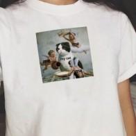 287.07 руб. 30% СКИДКА|Me My изображение кота футболка Летняя Милая женская футболка короткий рукав модный топ футболка кошка мема на меня. Me Tumblr футболка в уличном стиле-in Футболки from Женская одежда on Aliexpress.com | Alibaba Group