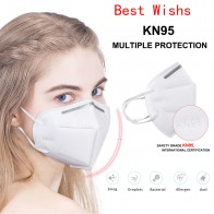 USA Spain Fast Shipping 20/50/100PCS FDA KN95 Mask Dust-proof Filterable Bacteria Face Masks 95% Filtration Breathing Mask