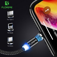 US $1.11 60% OFF|FLOVEME 1M Magnetic Charge Cable , Micro USB Cable For iPhone XR XS Max X Magnet Charger USB Type C Cable LED Charging Wire Cord-in Mobile Phone Cables from Cellphones & Telecommunications on Aliexpress.com | Alibaba Group