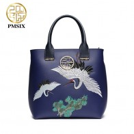 US $62.27 45% OFF|Pmsix New Fashion embroidered handbags for women luxurious ladies  versatile PU blue shoulder bags Animal Prints messenger bags-in Top-Handle Bags from Luggage & Bags on Aliexpress.com | Alibaba Group