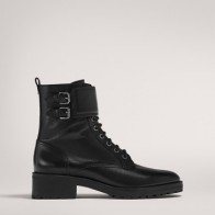 LACE-UP ANKLE BOOTS WITH BUCKLES - Women -  Massimo Dutti