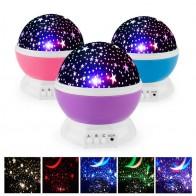 579.36 руб. 25% СКИДКА|Новинка, светодиодный проектор с вращающейся звездой, освещение, луна, звездное небо, детский ночник для сна, батарея, аварийная проекционная лампа-in Светящиеся игрушки from Игрушки и хобби on Aliexpress.com | Alibaba Group