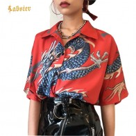 726.72 руб. 45% СКИДКА|2018 летние женские Топы Блузка хараджуку женские блузки с коротким рукавом с принтом дракона рубашки женские уличные kz022-in Блузки и рубашки from Женская одежда on Aliexpress.com | Alibaba Group