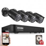11050.35 руб. |ZOSI 8CH система видеонаблюдения 8 каналов 720 P DVR 4 шт. 1280TVL IR домашняя камера безопасности комплекты видеонаблюдения-in Система наблюдения from Безопасность и защита on Aliexpress.com | Alibaba Group