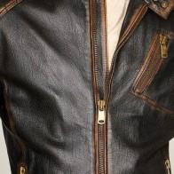 Мужская кожаная куртка Derimod ME-5637477155 - Мужские кожаные куртки