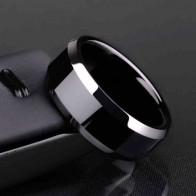 34.61 руб. 49% СКИДКА|Кольцо мужское титановое черное купить на AliExpress