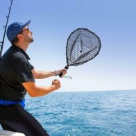 Рыболовная сеть алюминиевая полюс Выдвижная телескопическая складная посадочная резиновая сеть YA88