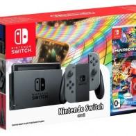Купить Игровая приставка Nintendo Switch серый + Mario Kart 8 Deluxe по низкой цене с доставкой из маркетплейса Беру