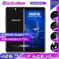 15120.24 руб. |Blackview P6000 Face ID смартфон Helio P25 6180 мА/ч, Supperbattery 6 ГБ 64 Гб 5,5