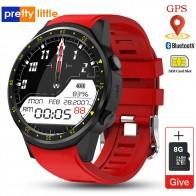 Gps Смарт часы для мужчин с sim-картой камера F1 смарт часы Датчик сердечного ритма спортивный телефон подключены Часы android iOS часы - Умные часики