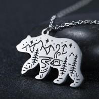 Lemegeton Polar Bear Wolf Fox Rabbit Necklace Men Women Eagles Bird Animal Camping Outdoor Travel Necklaces Jewelry - Nice Jewelery