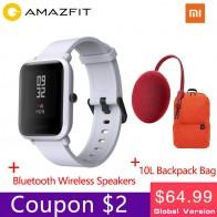 4249.73 руб. |[Официальный] Смарт часы Xiaomi Amazfit bip для мужчин и женщин Huami amzfit bip SmartWatch Bluetooth сердечного ритма 45 дней в режиме ожидания IP68 + gps-in Смарт-часы from Бытовая электроника on Aliexpress.com | Alibaba Group
