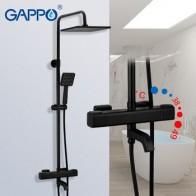 GAPPO G2491-6 черный Термостатический смеситель для воды для ванной смеситель водопад кран смеситель для душа термостат кран дождевой shoower -